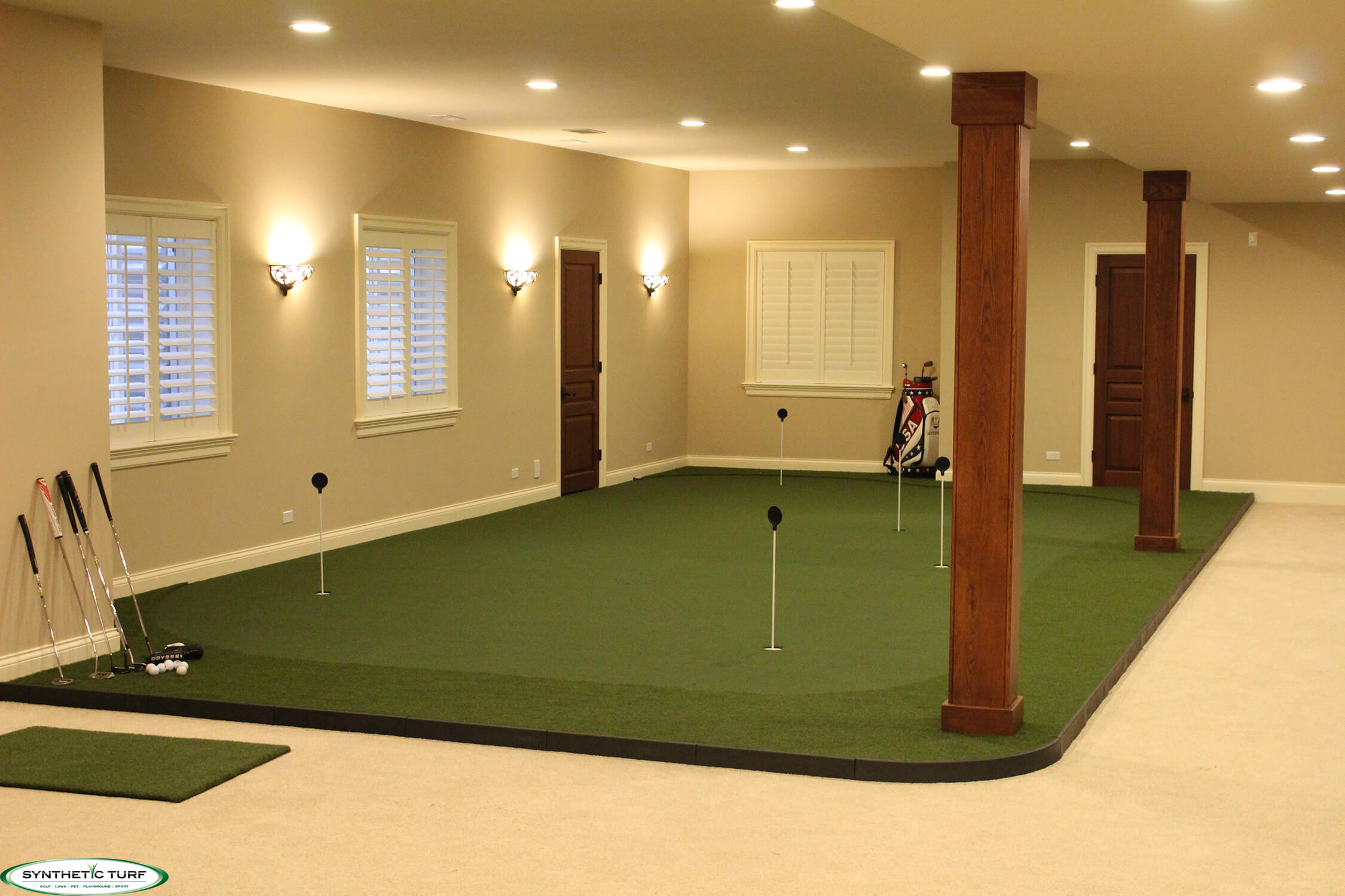 Indoor Putting Greens | Modular Systems Greens | Synthetic Turf of ... Rolling Soccer Ball